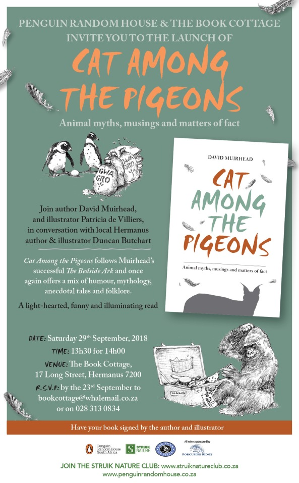 Invitation to Cat Among the Pigeons launch @ The Book Cottage