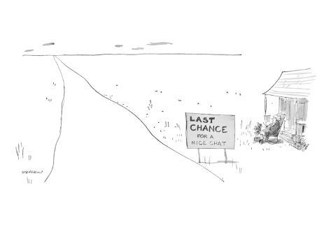 james-stevenson-last-chance-for-a-nice-chat-new-yorker-cartoon